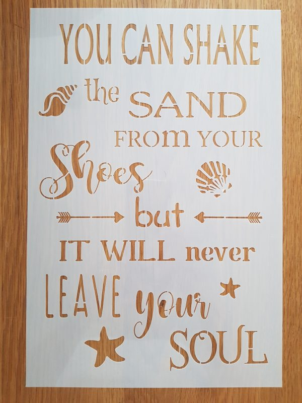 You can shake the sand…