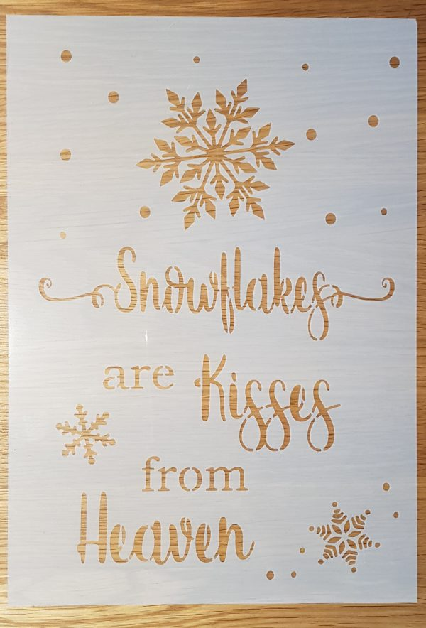Snowflakes are kisses …