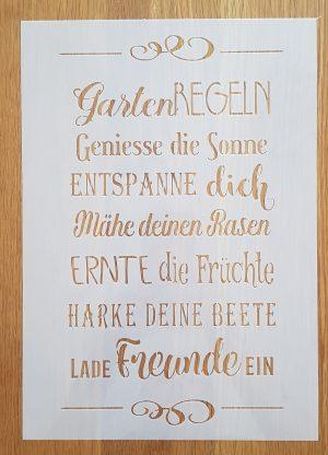 Garten Regeln