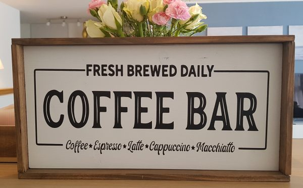 "Holzschild ""Coffee Bar """