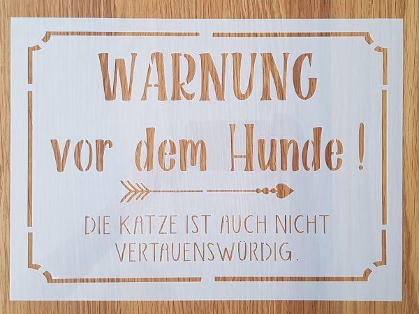 Warnung vor dem Hunde !