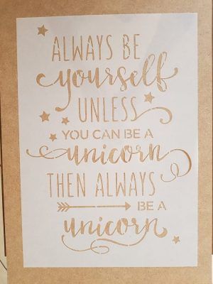 Always be yourself…