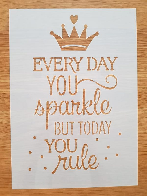 Every day you sparkle..