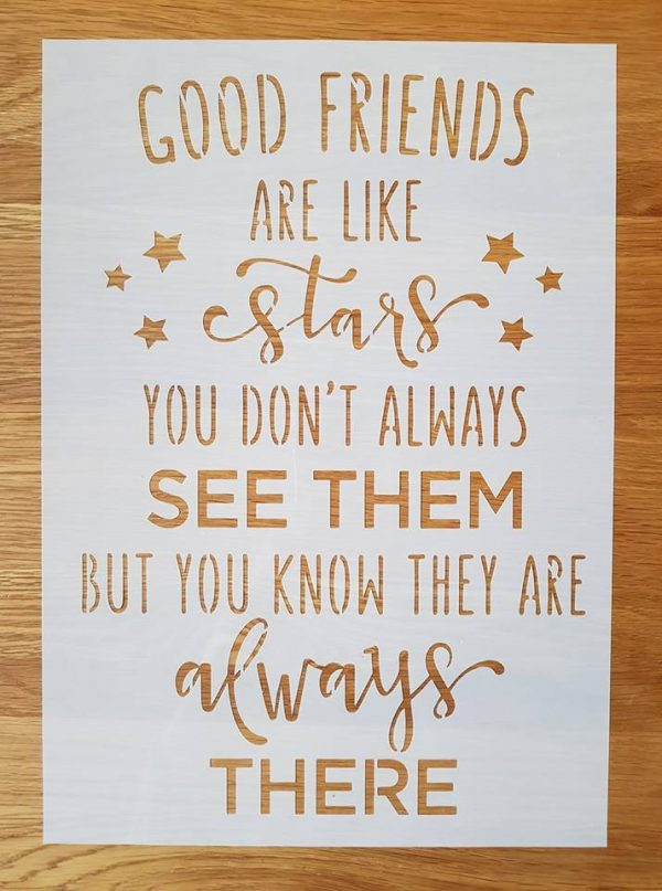 Good friends are like…