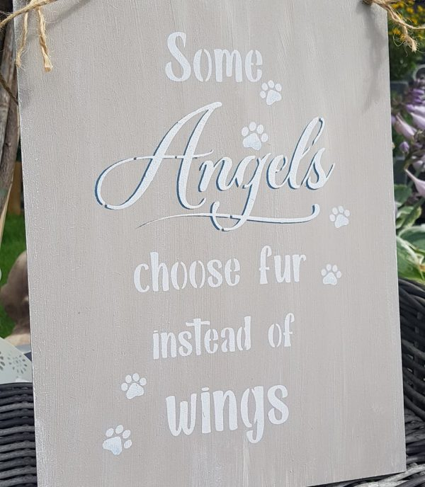 """Holzschild """"some Angels"""""""