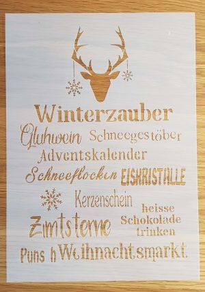 Winterzauber Hirschkopf